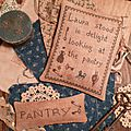 PANTRY THEME: Laura stood in delight looking at the pantry + PANTRY Pillow US $ 9.00