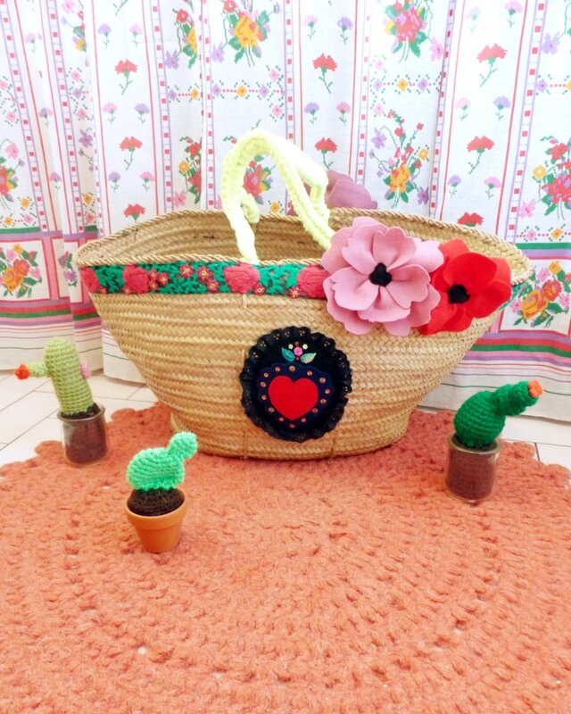 customisation-panier-osier-mexique-frida-kahlo-diy