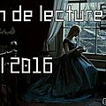 Mes lectures d'avril 2016