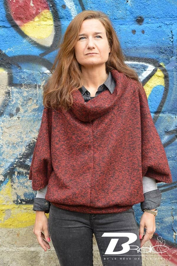 Garde-robe capsule #4 - Avril - Le pull over-size style poncho