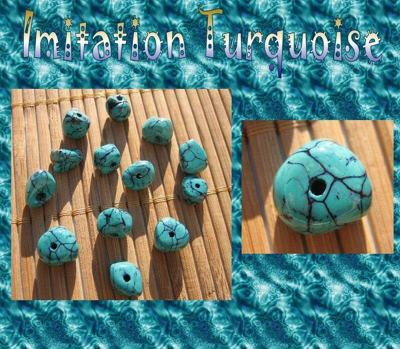 Tuto fimo imitation turquoise