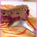 Cake à la framboise, lait de coco et sucre complet