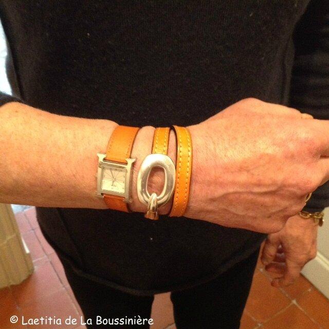 Le bracelet Boucle (orange) de Véronique