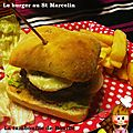 Burger au saint-marcelin