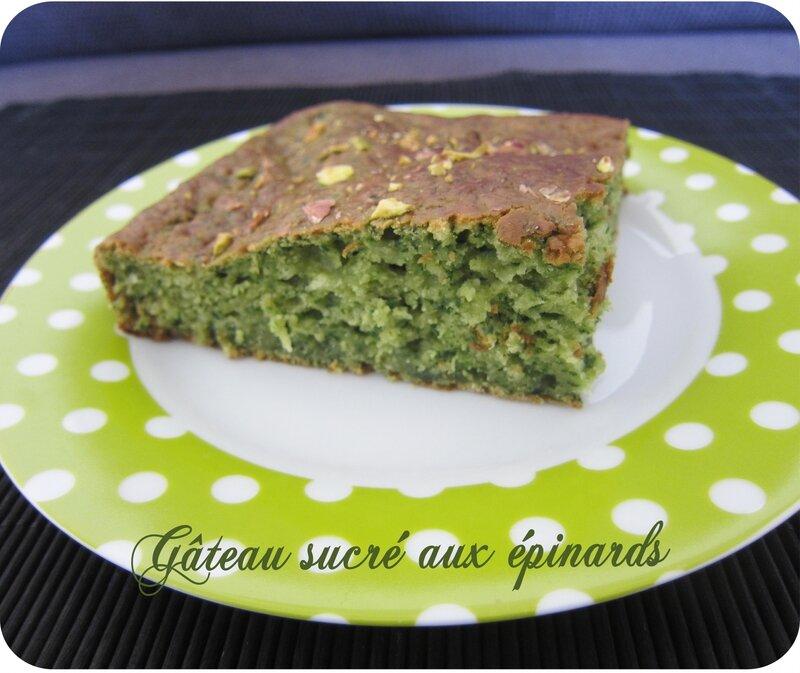gâteau sucré aux épinards (scrap)