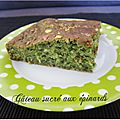 Gâteau sucré aux épinards