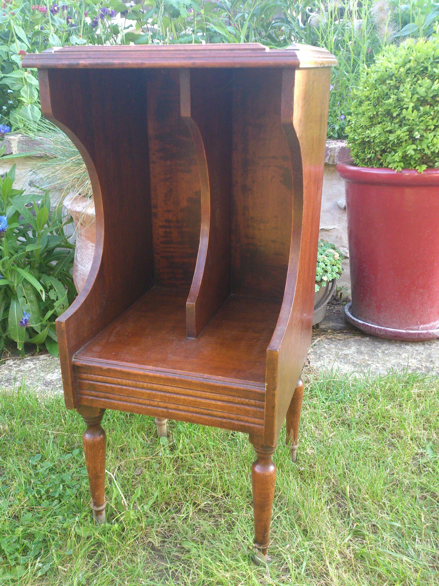 mobilier : petit meuble à revues, 33 tours
