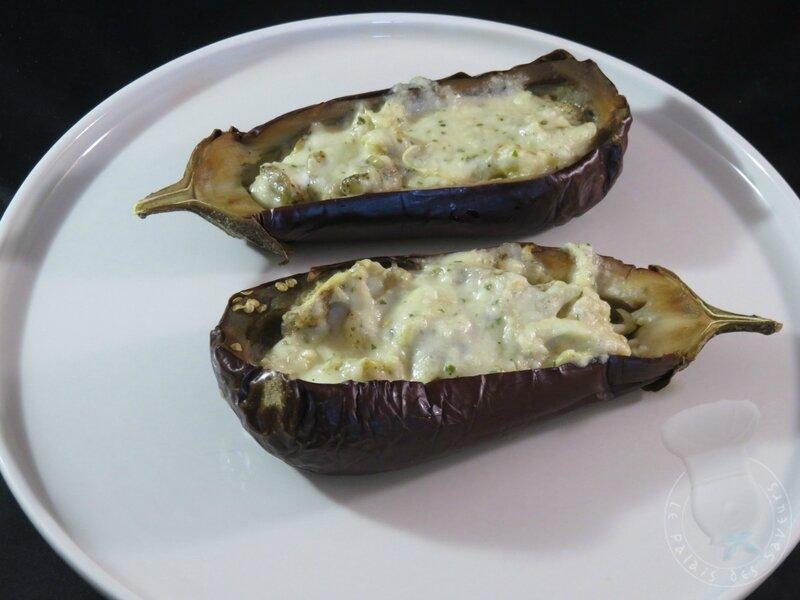 Aubergines grillées, sauce tahina