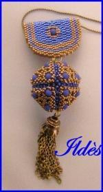 pendentif kallisto bleu bronze 3