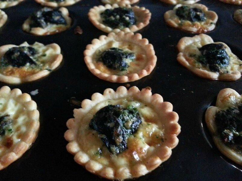 Mini tartelettes aux escargots de Bourgogne