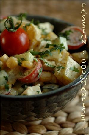 Salade_poulet__ananas__mais__concombre__tomate__curry__coriandre_2