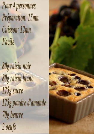 recette clafoutis raisins