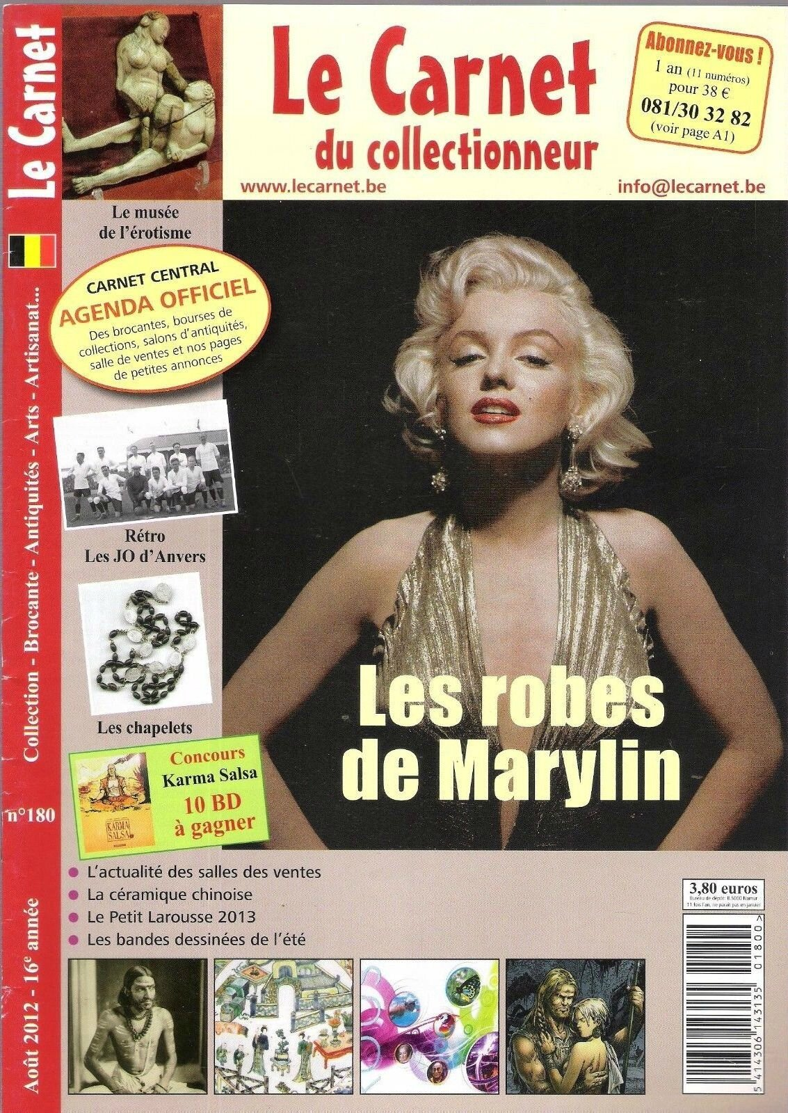Le carnet du collectionneur (Bel) 2012