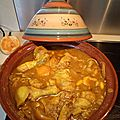 Tajine de poulet abricot/fenouil