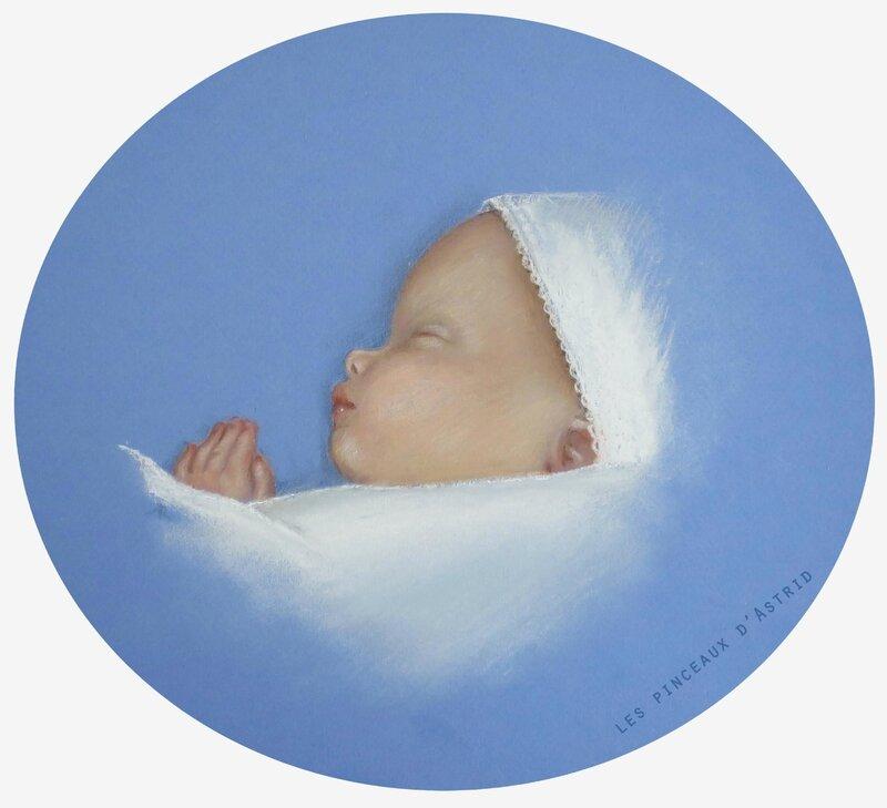 pastel bébé enfant fond bleu
