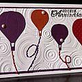 17. rose, rouge, violet et orange - montgolfières