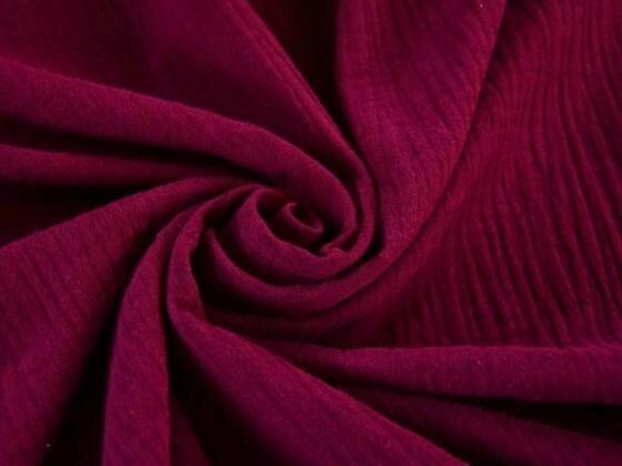 Tissu double gaze de coton uni coloris MURE au mètre