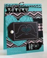 041914 pink and main love chalkboard card