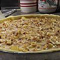 Tarte aux pommes rôties au miel et noix