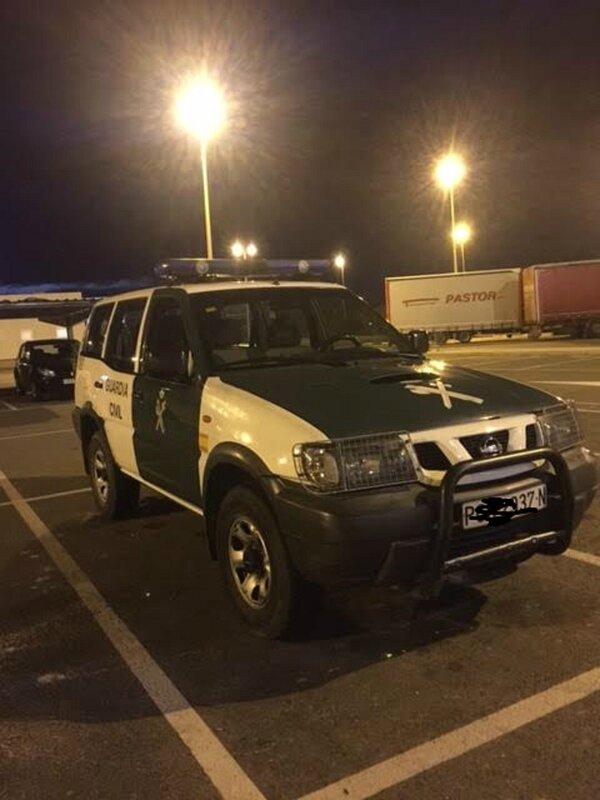 police espagnole pas de kangoo