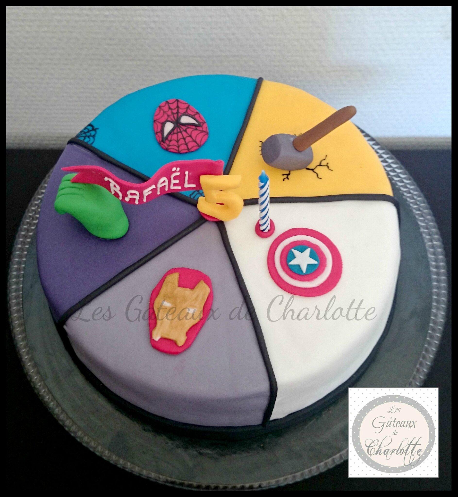Très Gâteau Avengers - Les Gâteaux de Charlotte AF65