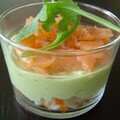 Petits verres Saumon-Avocat