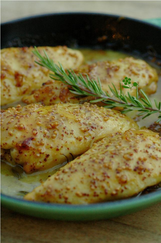 Blancs de poulet moutarde miel romarin passion - Graines de potimarron grillees a la poele ...