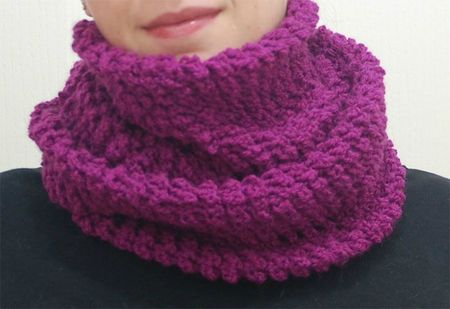Snood violet proté 2