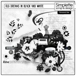 BLACK AND WHITE SIMPLETTE
