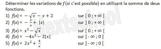premiere etude de fonctions sens de variation 3 6