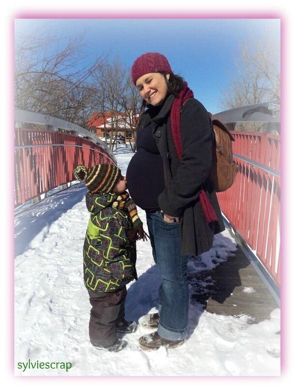 Titia et son bébé J-1 mois (3)