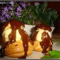 profiteroles à la clémentine sauce chocolat