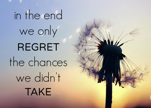 In the end we only regret