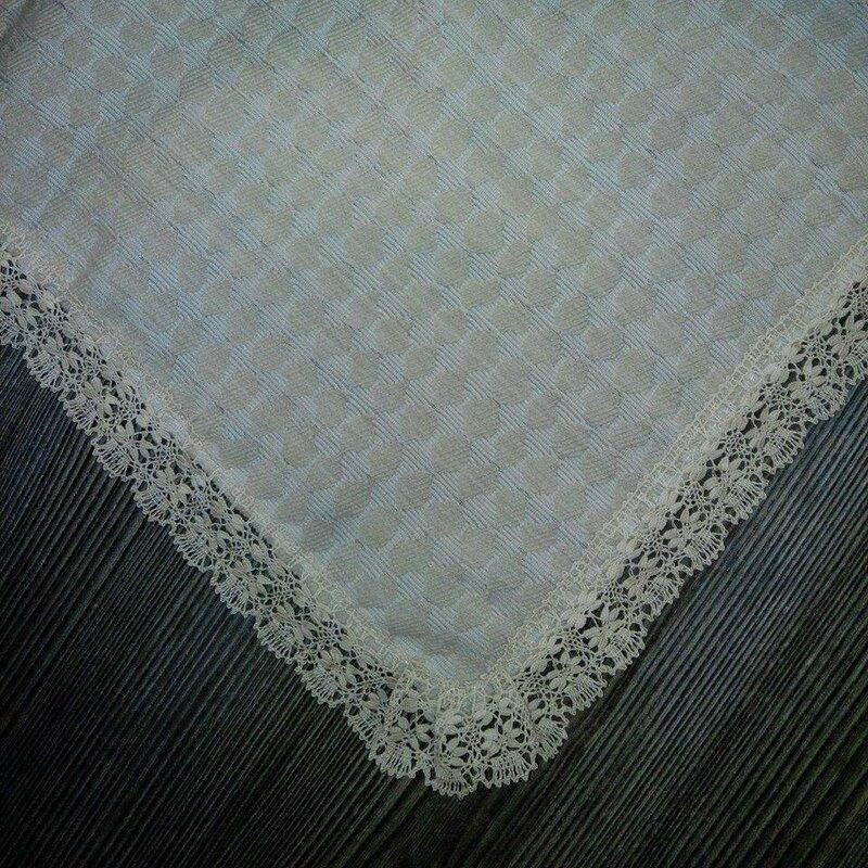 Fichu lainage beige