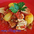 Sauté de poulet aux tomates