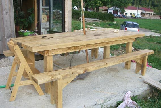 Faire une table de jardin for Comment realiser une table de jardin en mosaique