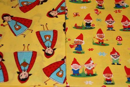 nouveaux tissus le petit chaperon rouge et les 7 nains arthur mon heros. Black Bedroom Furniture Sets. Home Design Ideas