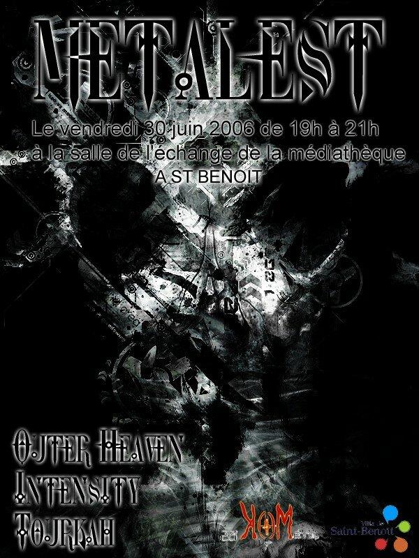Affiche du concert métal Metalest vendredi 30 juin 2006 à la Méd