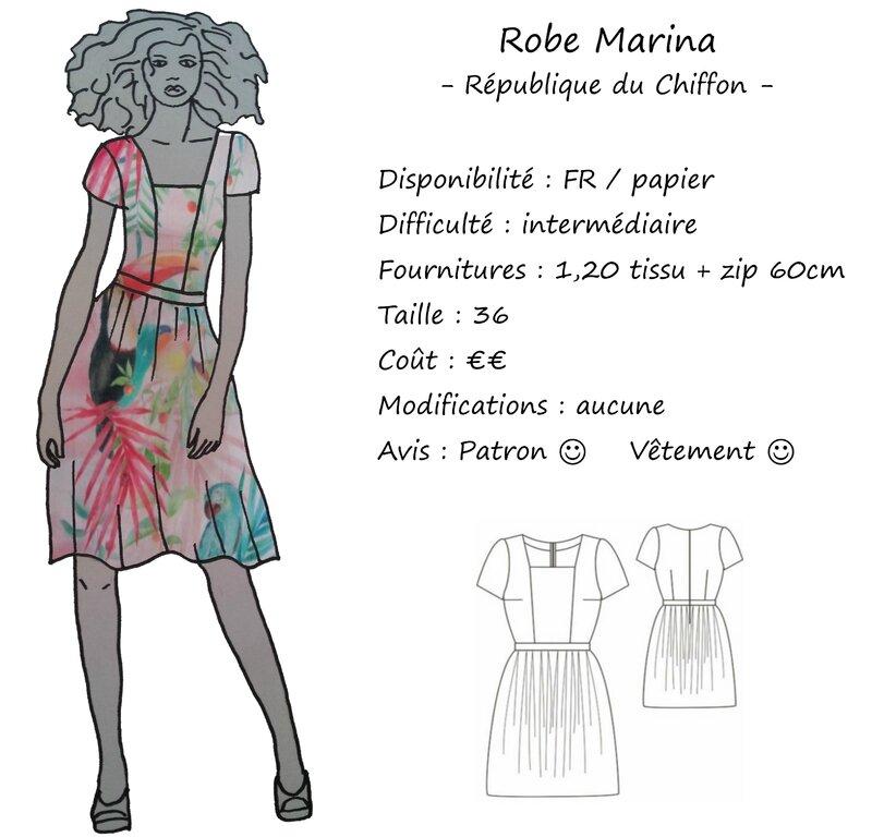 Fiche technique - Robe Marina - RDC