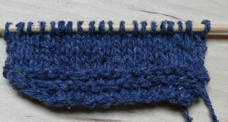 Echantillon tricoté à l'endroit 1