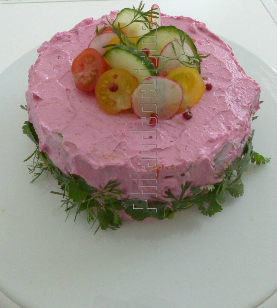 Salad cake - gâteau salade