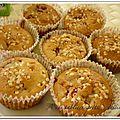 Muffins à la fraise et au chocolat blanc