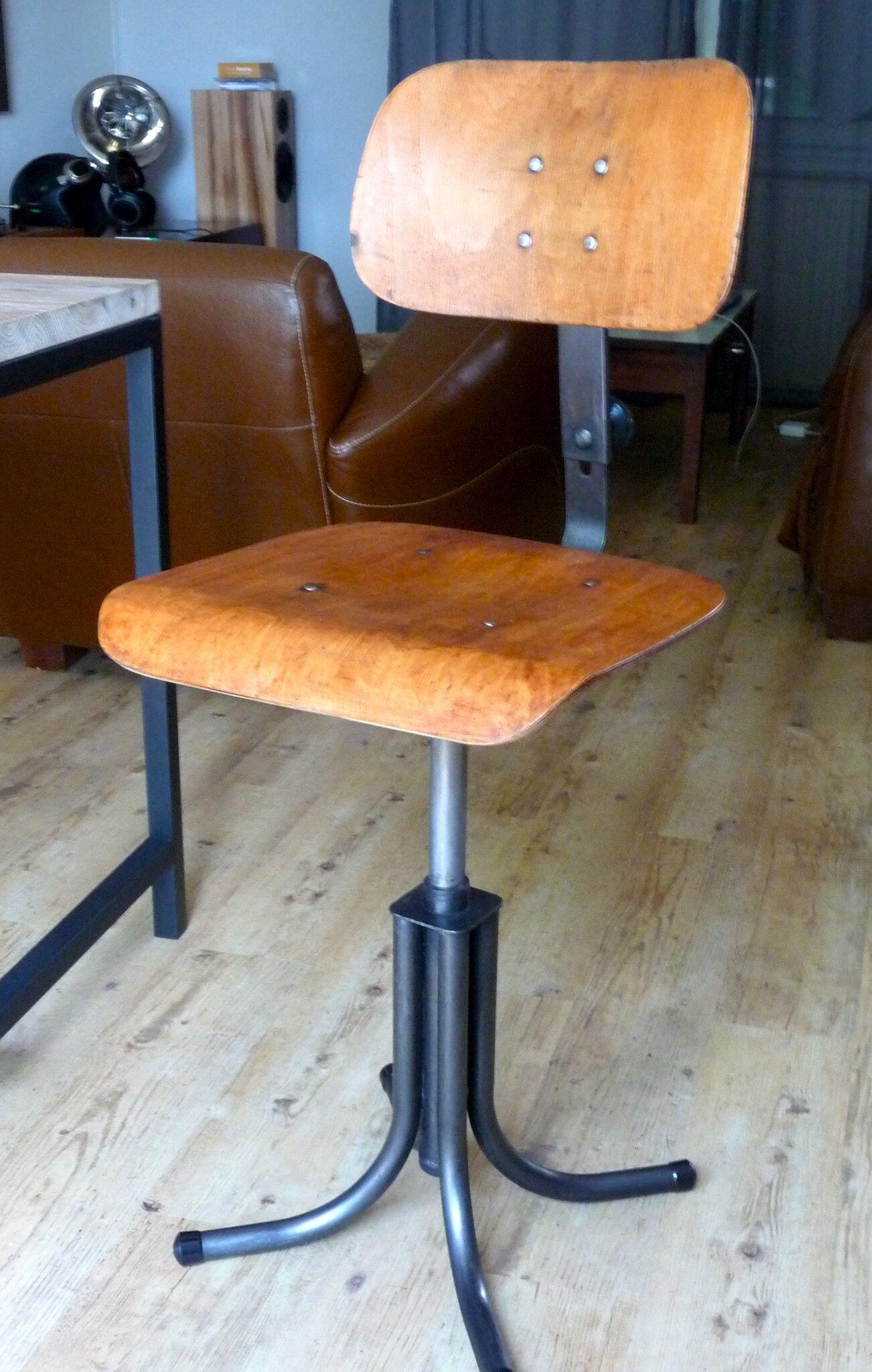 R novation d 39 une chaise d 39 atelier bao indus home factory - Chaise atelier industriel ...