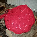 Le sac au crochet ... version rouge