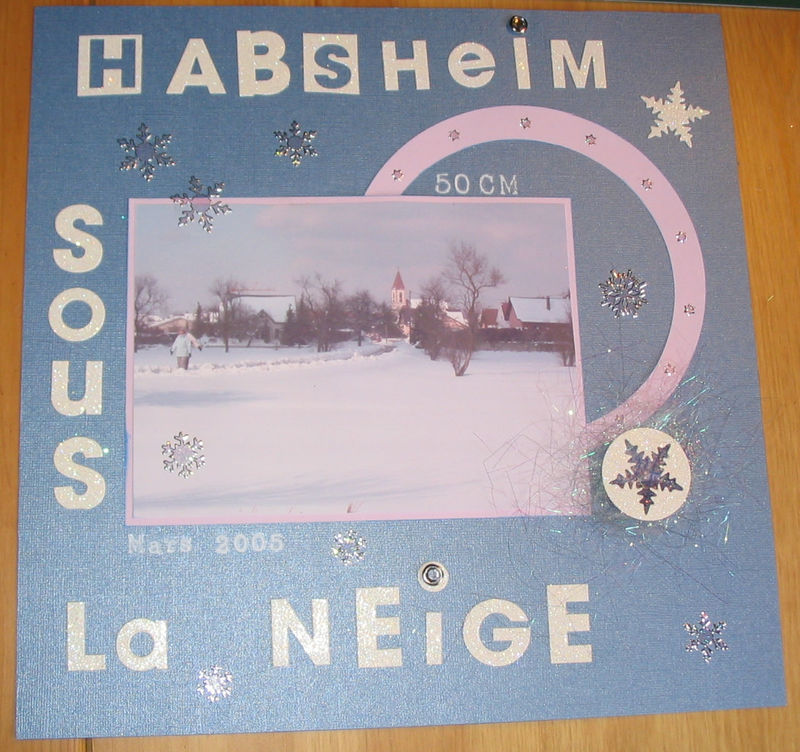 Habsheim sous la neige