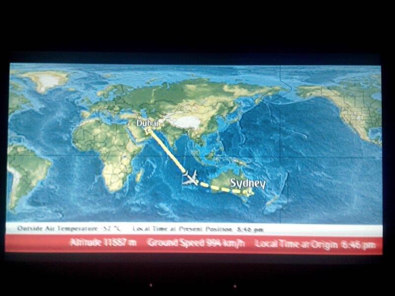 Itinéraire vers Sydney