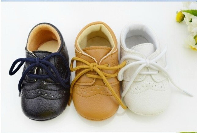 Hot-selling-1pair-Lace-Up-Brand-Leather-Baby-First-Walkers-font-b-boy-b-font-Girl