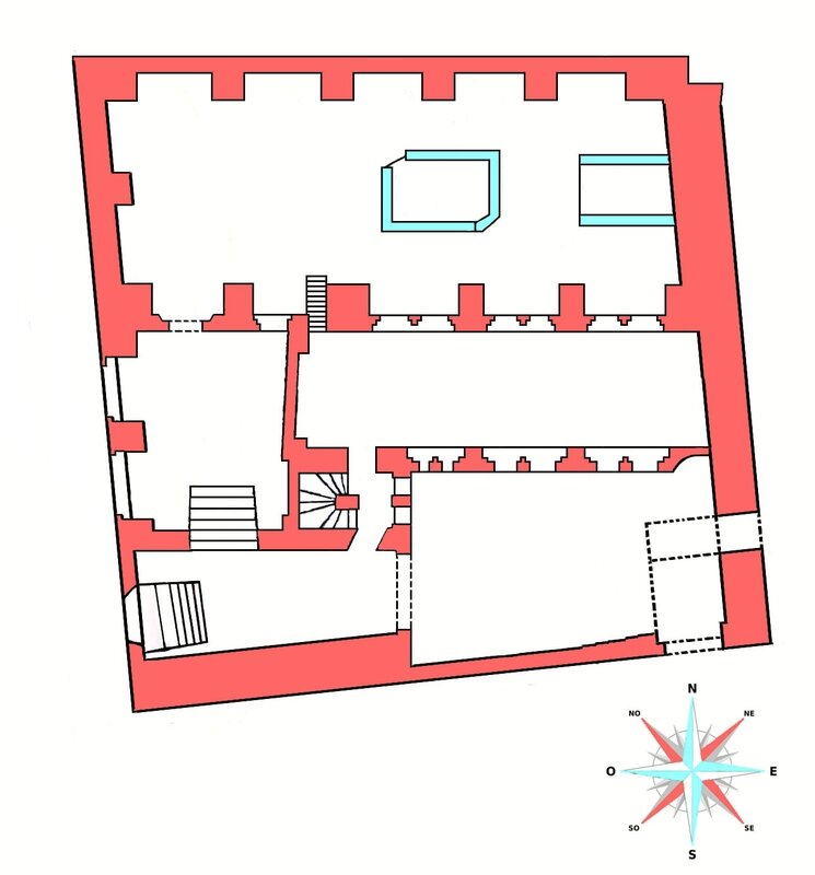 Prague synagogue Pinkas plan 1
