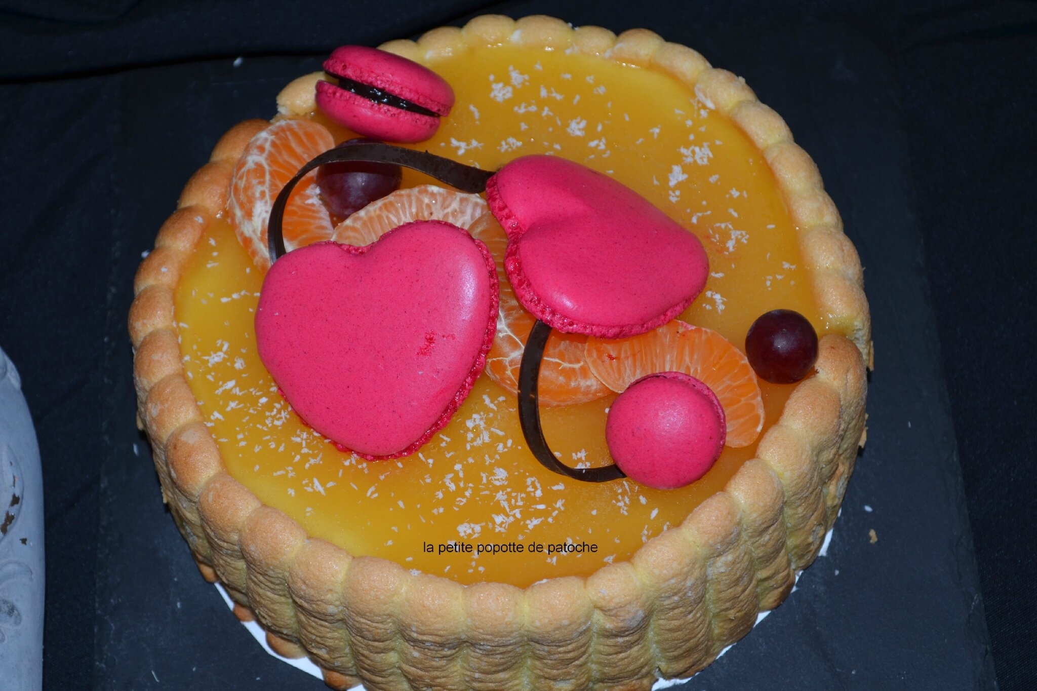 CHARLOTTE ANANAS , BISCUIT CUILLERE