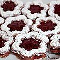 Petits biscuits façon linzer, pour le calendrier de l'avent gourmand